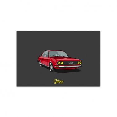 Artwork - Gilow Audi 100 rot