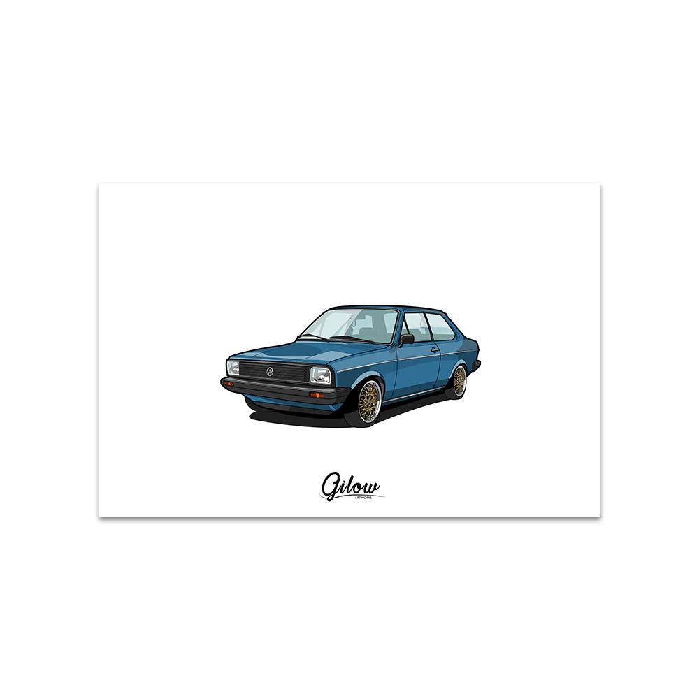 Artwork - Gilow Derby blau