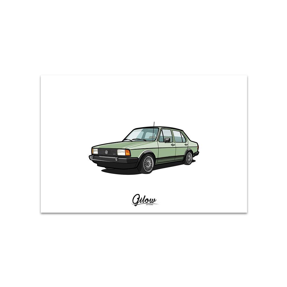 Artwork - Gilow Jetta grün